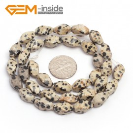 "G7111 Dalmatian Jasper 6X12mm Twist Mixed Gemstone Loose Beads DIY Jewelry Making  Beads Strand 15"" Natural Stone Beads for Jewelry Making Wholesale"