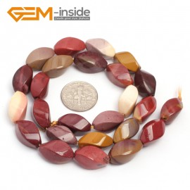 "G7123 Mookaite Jasper 8X16mm Twist Gemstone DIY Jewelry Crafts Making Stone Loose Beads Strand 15"" Natural Stone Beads for Jewelry Making Wholesale"
