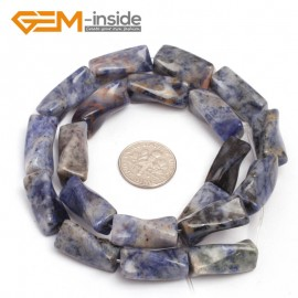 """G7142 Sodalite 9x20mm Twist Column Gemstone DIY Jewelry Crafts Making Loose Beads strand 15""""Natural Stone Beads for Jewelry Making Wholesale`"""