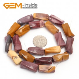 "G7145 Mookaite Jasper Twist Column Natural Stone Loose Beads 15"" 9x20mm for Jewelry Making 13 Material Natural Stone Beads for Jewelry Making Wholesale"