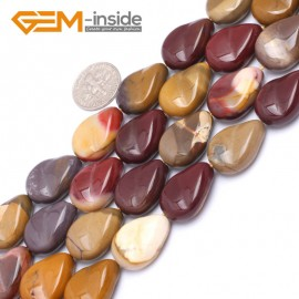 "G7175 Mookaite 15x20mm Drip Wave Shape Gemstone DIY Jewelry Crafts Making Loose Beads 15"" Natural Stone Beads for Jewelry Making Wholesale`"