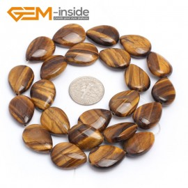 """G7179 Tiger Eye 13x18mm Drip Gemstone DIY Jewelry Crafts Making Stone Loose Beads Strand 15"""" Natural Stone Beads for Jewelry Making Wholesale`"""