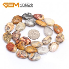 """G7181 Crazy Lace Agate 13x18mm Drip Gemstone DIY Jewelry Crafts Making Stone Loose Beads Strand 15"""" Natural Stone Beads for Jewelry Making Wholesale`"""