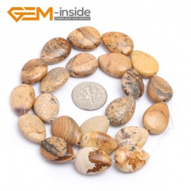 "G7187 Picture Jasper 13x18mm Drip Gemstone DIY Jewelry Crafts Making Stone Loose Beads Strand 15"" Natural Stone Beads for Jewelry Making Wholesale`"