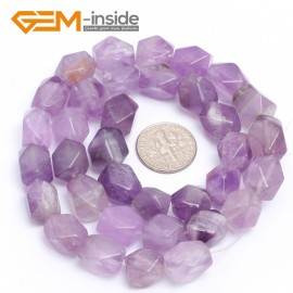 "G7193 amethyst 8-9x11-12mm Faced Cuboid Mixed Stone Beads 15"" DIY Jewelry Making 19 Materials Natural Stone Beads for Jewelry Making Wholesale"