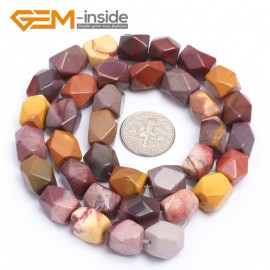 "G7194 mookaite jasper 8-9x11-12mm Faced Cuboid Mixed Stone Beads 15"" DIY Jewelry Making 19 Materials Natural Stone Beads for Jewelry Making Wholesale"