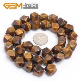 "G7198 yellow tiger eye 8-9x11-12mm Faced Cuboid Mixed Stone Beads 15"" DIY Jewelry Making 19 Materials Natural Stone Beads for Jewelry Making Wholesale"