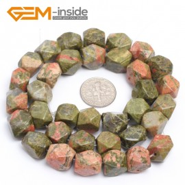 "G7199 unakite 8-9x11-12mm Faced Cuboid Mixed Stone Beads 15"" DIY Jewelry Making 19 Materials Natural Stone Beads for Jewelry Making Wholesale"