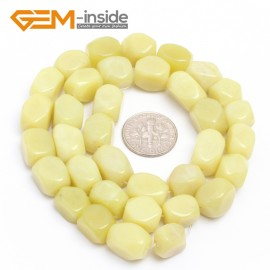 "G7204 lemon stone 8-9x11-12mm Faced Cuboid Mixed Stone Beads 15"" DIY Jewelry Making 19 Materials Natural Stone Beads for Jewelry Making Wholesale"