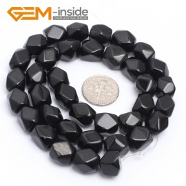 "G7205 obsidian 8-9x11-12mm Faced Cuboid Mixed Stone Beads 15"" DIY Jewelry Making 19 Materials Natural Stone Beads for Jewelry Making Wholesale"