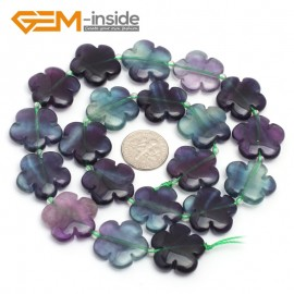 "G7223 Fluorite 20mm Flower Shape Gemstone DIY Jewelry Crafts Making Stone Loose Beads Strand15"" Natural Stone Beads for Jewelry Making Wholesale`"