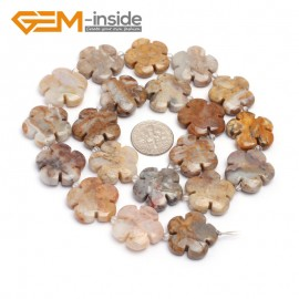 "G7226 Crazy Lace Agate 20mm Flower Shape Gemstone DIY Jewelry Crafts Making Stone Loose Beads Strand15"" Natural Stone Beads for Jewelry Making Wholesale`"