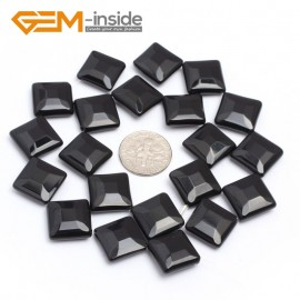 "G7245 14mm Diagonal Square Faceted Smooth/ Faceted Black Agate Gemstone DIY Jewelry Making  Loose Beads Strand 15"" Natural Stone Beads for Jewelry Making Wholesale`"
