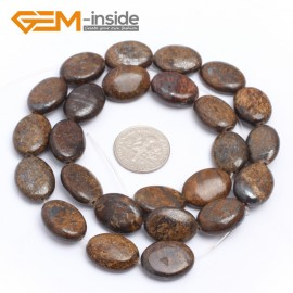 "G7255 12x16mm Oval Bronzite Gemstone Loose Beads Strand 15"" Jewelery Making Loose Beads Gbeads Natural Stone Beads for Jewelry Making Wholesale"