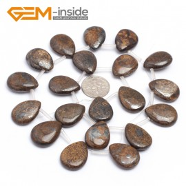 "G7258 15x20mm side way drip bronzite  DIY gemstone loose beads15 "" Natural Stone Beads for Jewelry Making Wholesale"