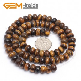 "G7262 5x8mm Rondelle  Natural Yellow Tiger's Eye Beads Jewelry Making Gemstone Loose Beads15"" Gbeads Natural Stone Beads for Jewelry Making Wholesale`"