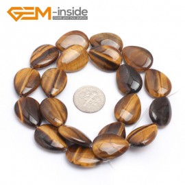 "G7269 15x20mm Drip Natural Yellow Tiger's Eye Beads Jewelry Making Gemstone Loose Beads15"" Gbeads Natural Stone Beads for Jewelry Making Wholesale`"