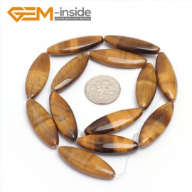 "G7274 10x30mm Marquise  Natural Yellow Tiger's Eye Beads Jewelry Making Gemstone Loose Beads15"" Gbeads Natural Stone Beads for Jewelry Making Wholesale`"