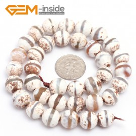 "G7297 White 10mm Round Faceted Gemstone DIY Jewelry Making Banded Eye Fire Agate Beads 15"" Natural Stone Beads for Jewelry Making Wholesale`"
