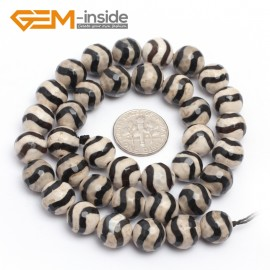 """G7301 White Wave 10mm Round Faceted Gemstone DIY Jewelry Making Banded Eye Fire Agate Beads 15"""" Natural Stone Beads for Jewelry Making Wholesale`"""