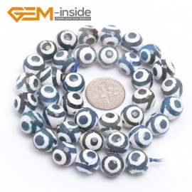 """G7303 Blue 10mm Round Faceted Gemstone Fire Agate Loose Tibetan Beads15"""" DIY Jewelry Making Natural Stone Beads for Jewelry Making Wholesale"""