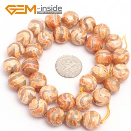 "G7322 Pink 12mm Round Faceted Gemstone DIYJewelry Crafts Making Banded Fire Agate Beads 15"" Natural Stone Beads for Jewelry Making Wholesale`"