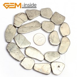 """G7336 13-25mm New freefrom silver gray pyrite DIY loose beads strand 15"""" Natural Stone Beads for Jewelry Making Wholesale"""