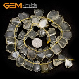 "G7413 Lemon Quartz 15-18x20mm Freeform Gemstone DIY Jewelry Crafts Making Loose Beads Strand 15"" Natural Stone Beads for Jewelry Making Wholesale`"