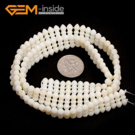 "G7426 White 4x11mm Gemstone Coral DIY Jewelry Making Necklace Bracelet Loose Beads Strand15"" Natural Stone Beads for Jewelry Making Wholesale`"