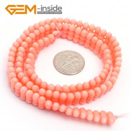"G7427 Pink 4x11mm Gemstone Coral DIY Jewelry Making Necklace Bracelet Loose Beads Strand15"" Natural Stone Beads for Jewelry Making Wholesale`"