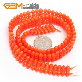 "G7428 Orange 4x11mm Gemstone Coral DIY Jewelry Making Necklace Bracelet Loose Beads Strand15"" Natural Stone Beads for Jewelry Making Wholesale`"