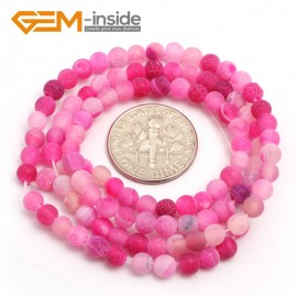 """G7509 frost plum 4mm Round Tiny Agate Spacer Beads Jewelry Making Loose Beads 15"""" 11 Colors Pick Natural Stone Beads for Jewelry Making Wholesale"""