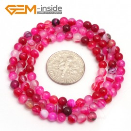 """G7511 banded plum 4mm Round Tiny Agate Spacer Beads Jewelry Making Loose Beads 15"""" 11 Colors Pick Natural Stone Beads for Jewelry Making Wholesale"""