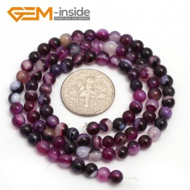 "G7512 banded purple Quartz 4mm Round Tiny Agate Spacer Beads Jewelry Making Loose Beads 15"" 11 Colors Pick Natural Stone Beads for Jewelry Making Wholesale"