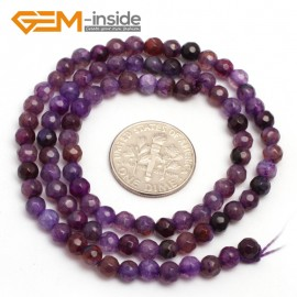 "G7514 faceted purple 4mm Round Tiny Agate Spacer Beads Jewelry Making Loose Beads 15"" 11 Colors Pick Natural Stone Beads for Jewelry Making Wholesale"