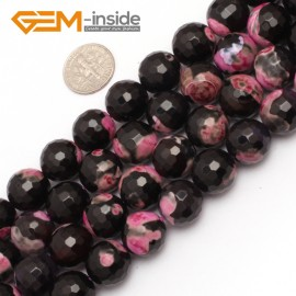 "G7521  14mm Round Faceted Gemstone Frost Agate DIY Jewelry Making Beads Strand 15"" Natural Stone Beads for Jewelry Making Wholesale"