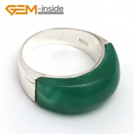 G7874 dyed green jade Pretty mixed beads tibetan silver base ring 10x22mm 6 materials selectable Rings Fashion Jewelry Jewellery