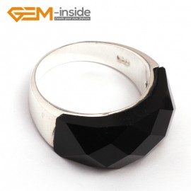 G7876 semi black agate Pretty mixed beads tibetan silver base ring 10x22mm 6 materials selectable Rings Fashion Jewelry Jewellery