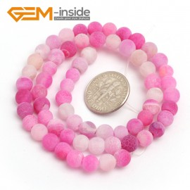 """G7915 6mm Round Frost Gemstone Plum Agate Jewelry Making Stone Beads Strand 15"""" Natural Stone Beads for Jewelry Making Wholesale"""