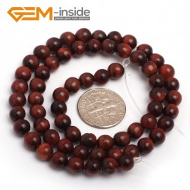 """G7921 6mm Natural Round Gemstone Red Tiger Eye DIY Crafts Jewelry Making Loose Beads 15"""" Natural Stone Beads for Jewelry Making Wholesale"""