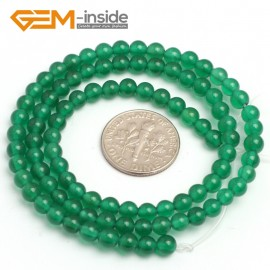 """G7923 4mm Round Natural Green Agate Stone Beads 15"""" Natural Stone Beads for Jewelry Making Wholesale"""