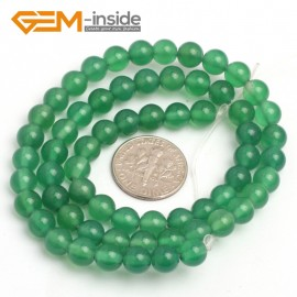 "G7924 6mm Round Natural Green Agate Beads Stone Beads 15"" Natural Stone Beads for Jewelry Making Wholesale"