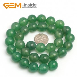 "G7927 12mm Round Natural Green Agate Stone Beads Strand 15"" Natural Stone Beads for Jewelry Making Wholesale"