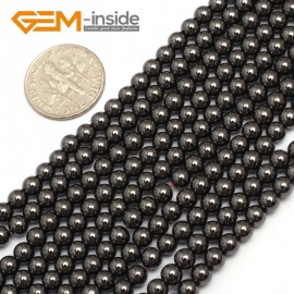 """G7941 4mm Round Magnetic Black Hematite Stone Strand 15"""" Natural Stone Beads for Jewelry Making Wholesale"""