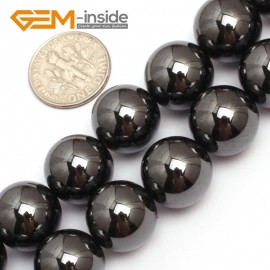 """G7946 14mm Round Magnetic Black Hematite Stone Strand 15"""" Natural Stone Beads for Jewelry Making Wholesale"""