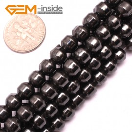"""G7983 6mm Column Pointy Magnetic Black Hematite Loose Beads Gemstone15"""" Natural Stone Beads for Jewelry Making Wholesale"""