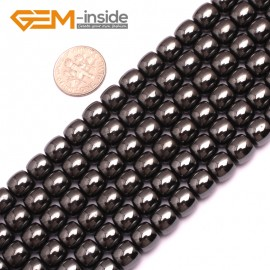 """G7989 8x8mm (Column) Gemstone Magnetic Black Hematite DIY Crafts Making Loose Beads Strand 15"""" Natural Stone Beads for Jewelry Making Wholesale"""