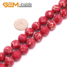 """G8013 12mm Round Faceted Gemstone Dark Red Crazy Lace Agate DIY Jewelry  Making Beads 15"""" Natural Stone Beads for Jewelry Making Wholesale"""