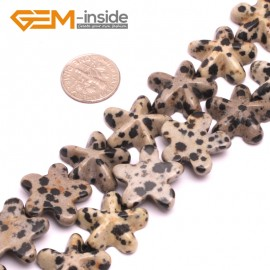 G8029 Dalmation Jasper  20mm Starfish Gemstone DIY Jewelry Crafts Making Loose Beads 2 Pcs  Natural Stone Beads for Jewelry Making Wholesale