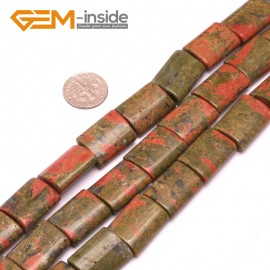 "G8039 15x20mm Rectangle Unakite Gemstone DIY Crafts Making Loose Beads Strand 15""Natural Stone Beads for Jewelry Making Wholesale"